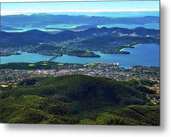 Overview Of Hobart Tasmania Metal Print
