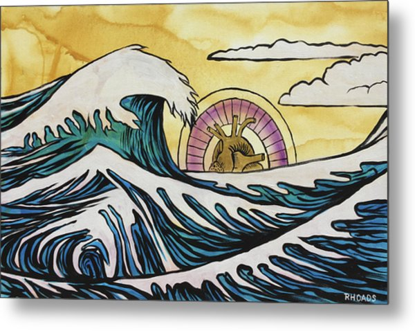 Metal Print featuring the painting Overwhelming Love by Nathan Rhoads