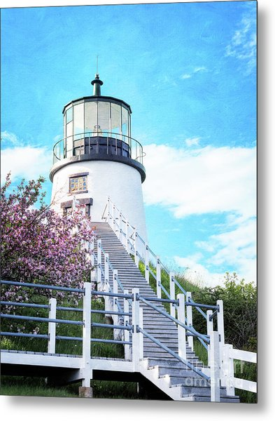 Owl's Head Light In Early June Metal Print