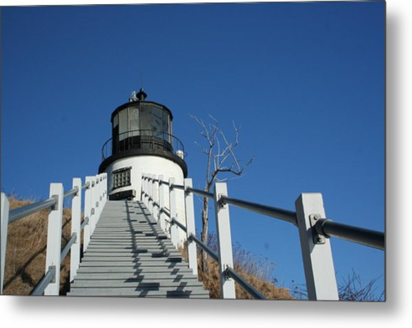 Owls Head Lighthouse Winter Metal Print
