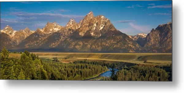 Oxbow Bend Grand Tetons Metal Print