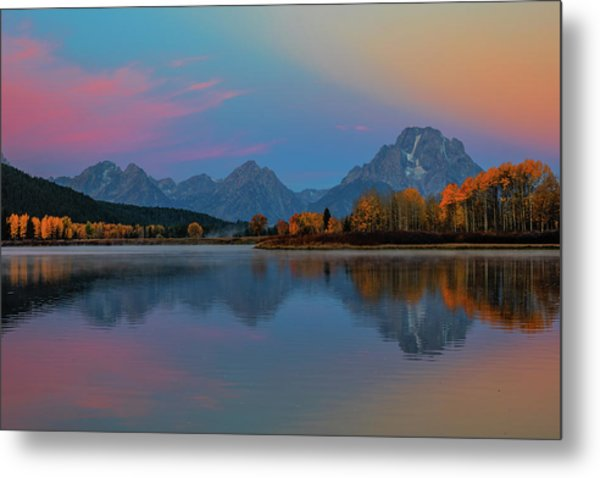 Oxbows Reflections Metal Print