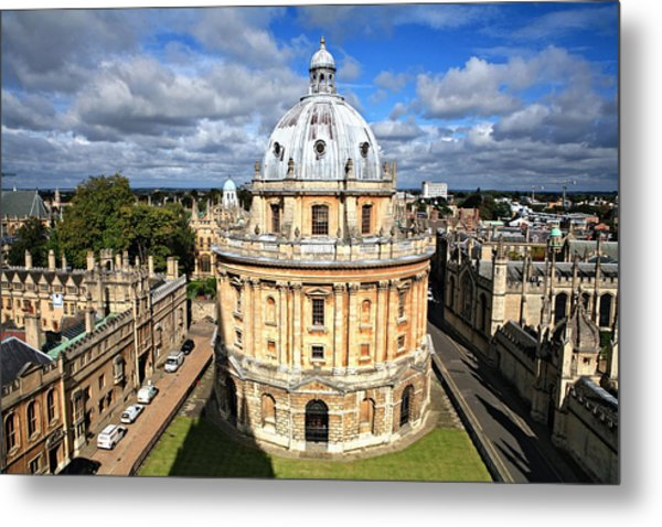 Oxford Library And Spires Metal Print