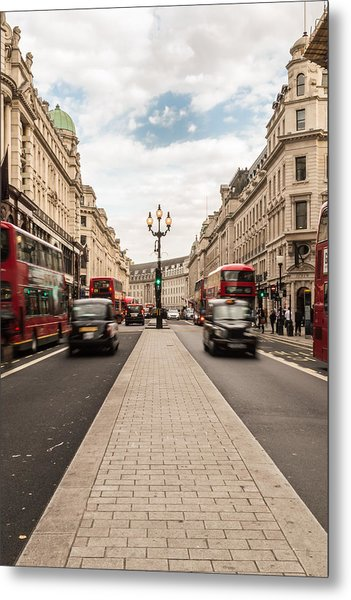 Oxford Street In London Metal Print