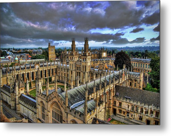 Oxford University - All Souls College Metal Print