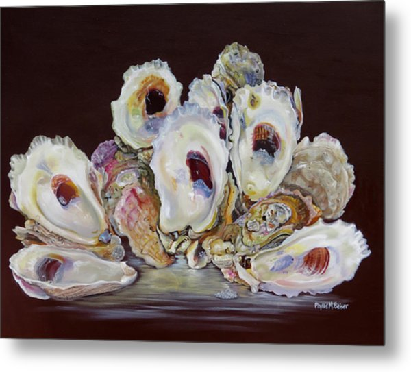 Oyster Shell Study At Low Tide Metal Print