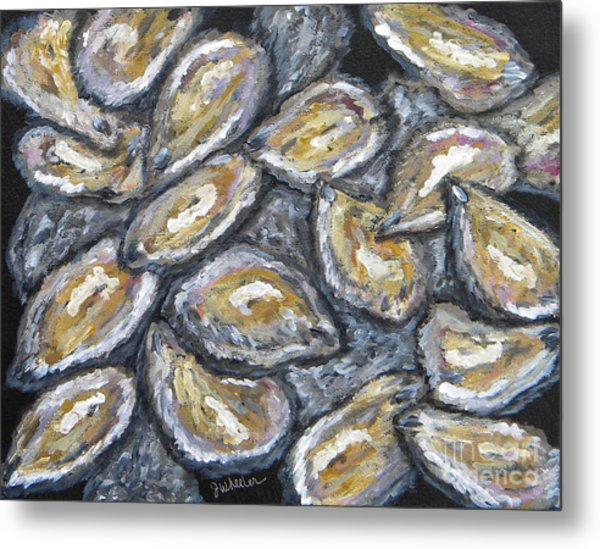 Oyster Stack Metal Print