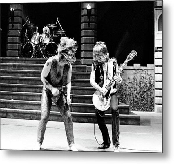 Ozzy Osbourne And Randy Rhoads 1981 Metal Print