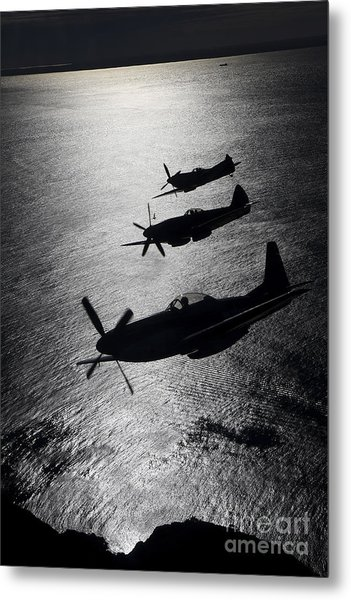 P-51 Cavalier Mustang With Supermarine Metal Print