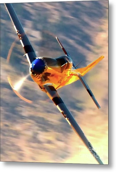 P-51d Grim Reaper And Dan Martin Metal Print