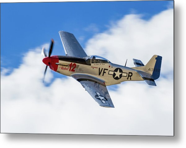 P-51 The Rebel Metal Print