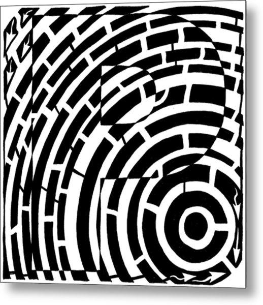 P Maze Metal Print