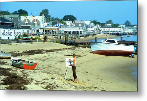 Metal Print featuring the photograph P-town Painter by Rein Nomm