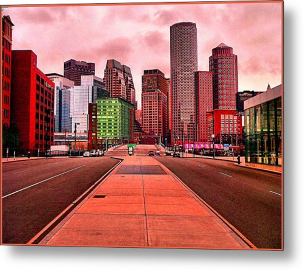 p1070558  Red City Metal Print by Ed Immar