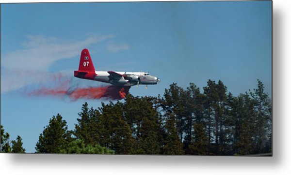 P2v Red Canyon Fire Metal Print