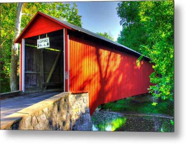 Pa Country Roads - Witherspoon Covered Bridge Over Licking Creek No. 4b - Franklin County Metal Print