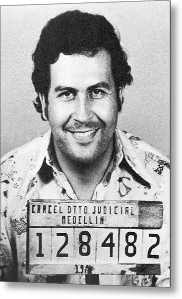 Pablo Escobar Mugshot Metal Print