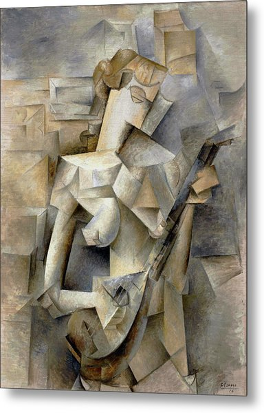 Pablo Picasso Girl With A Mandolin 1910 Metal Print