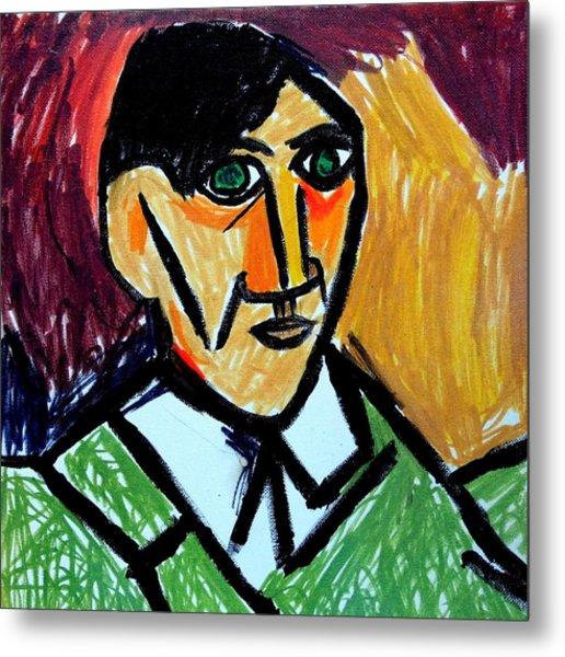 Pablo Picasso 1907 Self-portrait Remake Metal Print
