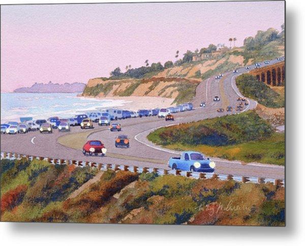 Pacific Coast Hwy Del Mar Dusk Metal Print