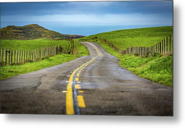 Pacific Coast Road To Tomales Bay Metal Print