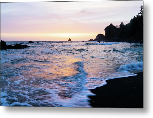 Metal Print featuring the photograph Pacific Coast Sunset by TL Mair