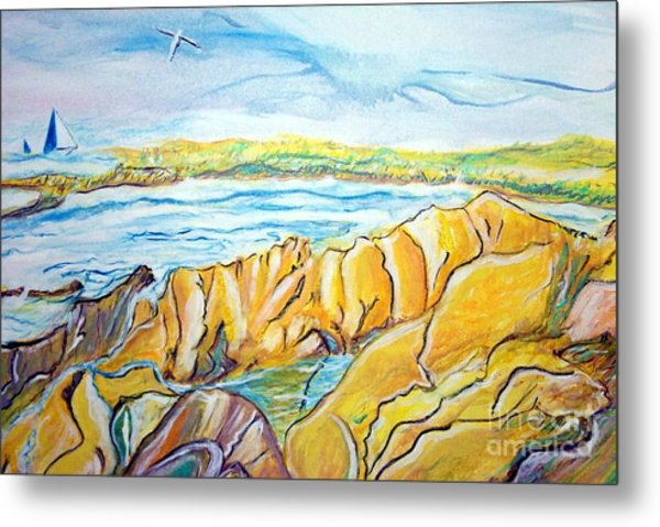 Pacific Grove Rocky Beach Metal Print