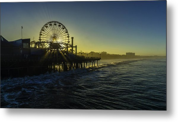 Pacific Park Ferris Wheel Metal Print