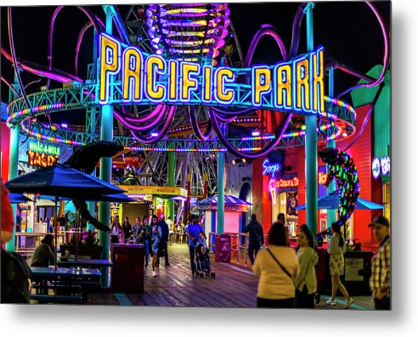 Pacific Park - On The Pier Metal Print