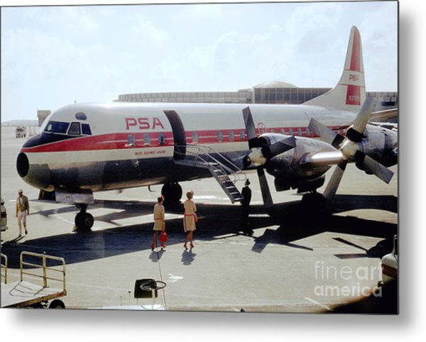 Pacific Southwest Airlines Lockheed L-188c, N376ps Metal Print