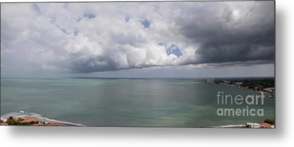Pacific Storm Panorama Metal Print