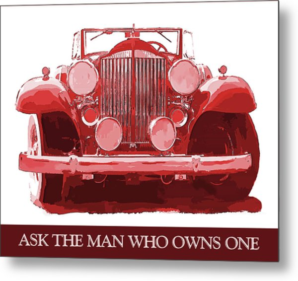 Packard Ask The Man Red Metal Print