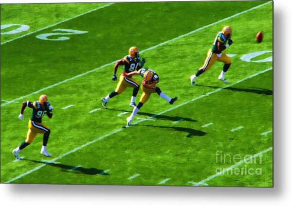 Packers Kick Metal Print