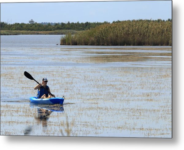 Paddle Away Metal Print