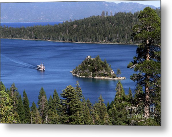 Metal Print featuring the photograph Paddle Boat Emerald Bay Lake Tahoe California by Steven Frame