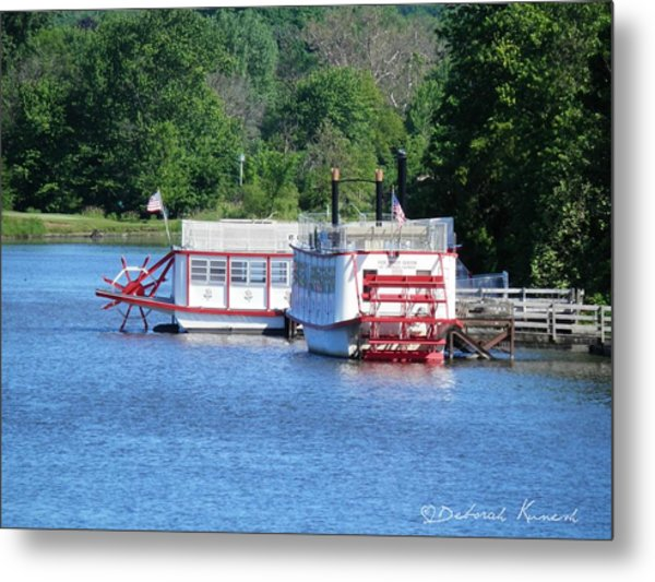 Paddleboat On The River Metal Print