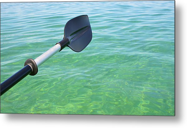 Paddling Grand Traverse Bay Metal Print
