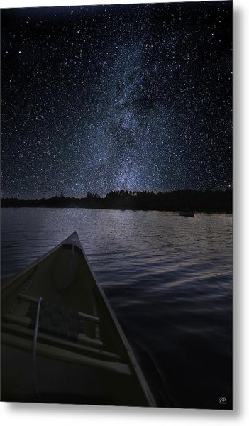 Paddling The Milky Way Metal Print