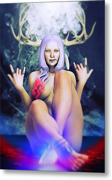 Metal Print featuring the painting Pagan Paradise by Baroquen Krafts