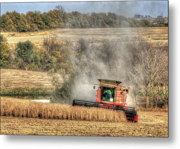 Page County Iowa Soybean Harvest Metal Print