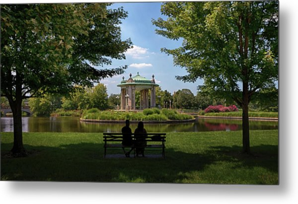 Metal Print featuring the photograph Pagoda Circle Interlude by Susan Rissi Tregoning