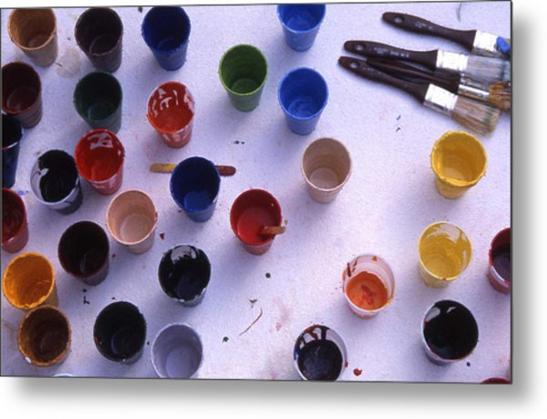 Paint Cups Metal Print by Randy Muir