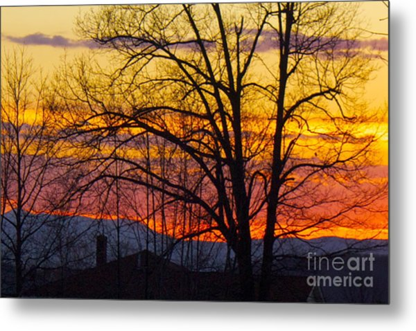Paint Night Sunset Metal Print