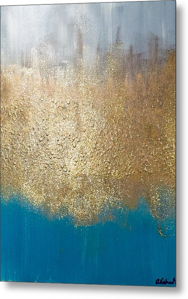 Paint The Sky Gold Metal Print