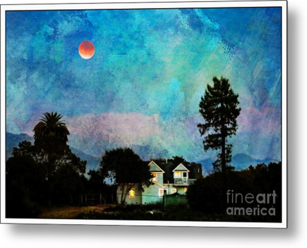 Painted By Fog And Moonlight Metal Print
