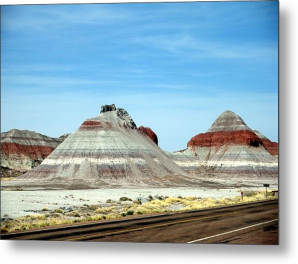 Painted Desert 2 Metal Print by Jeanette Oberholtzer