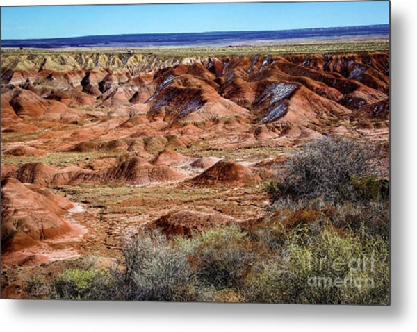 Painted Desert In Winter Metal Print