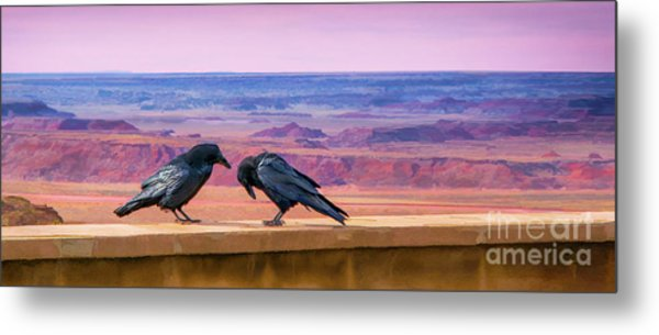 Painted Desert Pals Metal Print
