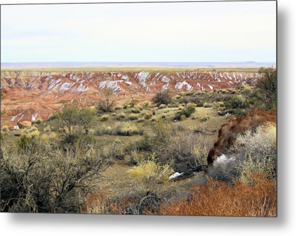 Painted Desert Winter 0571 Metal Print by Sharon Broucek