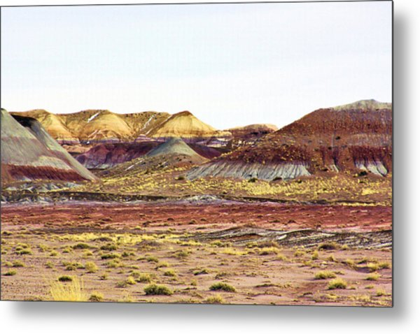 Painted Desert Winter 0602 Metal Print by Sharon Broucek